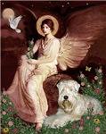 SEATED ANGEL<br>& Wheaten Terrier