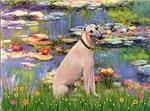 LILIES (#2)<br>& Fawn Greyhound