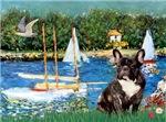 SAILBOATS<br>& French Bulldog (BW)