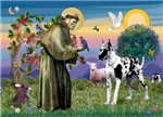 Saint Francis with a<br>Harlequin Great Dane