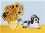 SUNFLOWERS<br> & Petit Basset Griffon Vendeen