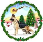 SANTA'S TAKE OFF #1<br>& German Shepherd