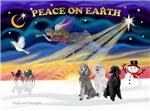 CHRISTMAS SUNRISE<br>& 3 Standard Poodles