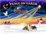 CHRISTMAS SUNRISE<br>& 2 Silky Terriers