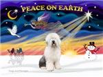 CHRISTMAS SUNRISE<br>& Old English Sheepdog