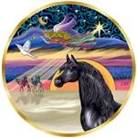 Black Arabian Horse in<br>