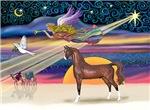 "Brown Arabian Horse in<br>""Christmas Star"""