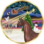 """Brown Arabian Horse in<br>""""Christmas Magic"""""""