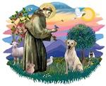 St. Francis #2 & Yellow Labrador