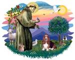 St. Francis #2 &<br> Basset Hound