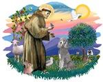 St. Francis #2 &<br>Standard Poodle (silver)