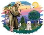 St. Francis #2 &<br>Tibetan Terrier (white)