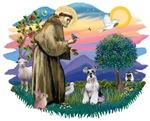 St. Francis #2 &<br> Schnauzer (Miniature #2)