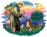 St. Francis #2 &<br> Australian Shepherd (red)