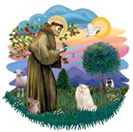St. Francis (ff) with<br>a White Persian Cat