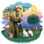 St. Francis (ff) with<br>Two Siamese Cats (Pr. 1)