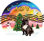 CHRISTMAS MAGIC #2<br>Brindle French Bulldog