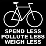 Spend less, pollute less, weigh less