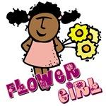 Ethnic Flower Girl T-shirts & Keespake Gif