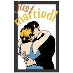 Retro Just Married T-shirts & Gifts