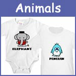 Animal Baby Clothes, Bibs, Infant Tees