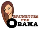Brunettes for Obama Tshirts and Stickers