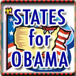 States for Obama Tshirts, Signs, Buttons, Stickers