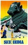 India Vintage Travel Advertising Print