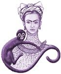 Violet Monkey Hugs Frida