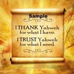 Thank Yahweh Items