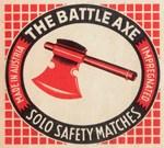 Vintage Battle Axe Matchbox Logo