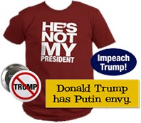 Resist Trump Bumper Sticker and T-shirt Shop