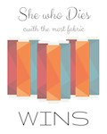 She who Dies with the Most Fabric Wins