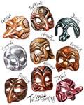 The Masks of Commedia dell'Arte
