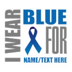 Blue Awareness Ribbon Customized