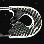 Safety Pin Woodcut