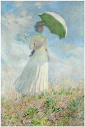 ...woman with a sunshade turned to the right