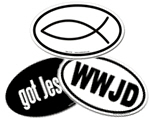 Christian Oval Stickers