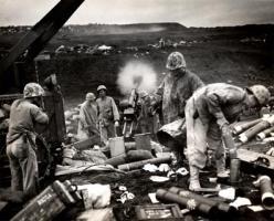 WWII Marines on Iwo Jima