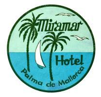 1930 Mallorca Spain Luggage label