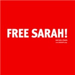 Free Sarah Palin! Red Pin