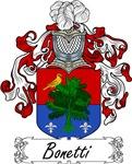 Bonetti Family Crest, Coat of Arms