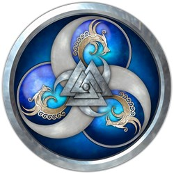 Triple Norse Dragons Shield