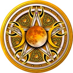 Yellow Triple Goddess Pentacle