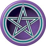 Purple and Teal Pentacle