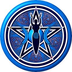 Blue-Silver Goddess Pentacle