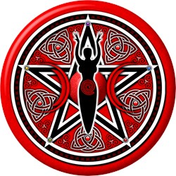 Red-Silver Goddess Pentacle
