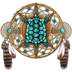 Turquoise Tortoise Dreamcatcher