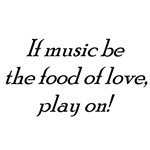 music food of love