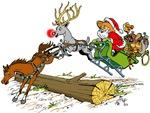 Santa Jumping Log